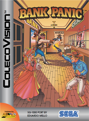 Bank Panic for Colecovision Box Art