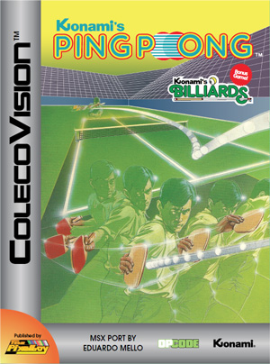 Konami's Ping-Pong for Colecovision Box Art