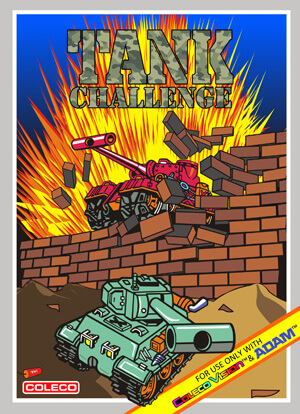 Tank Challenge for Colecovision Box Art