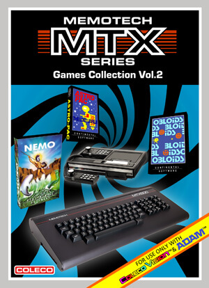 Memotech MTX Series Games Collection Vol.2 for Colecovision Box Art