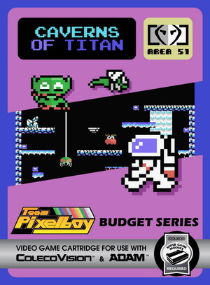 Caverns of Titan for Colecovision Box Art