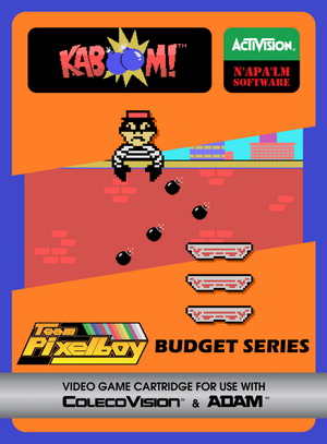 Kaboom! for Colecovision Box Art