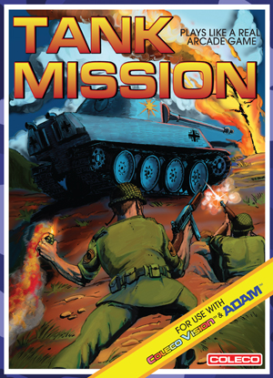 Tank Mission for Colecovision Box Art